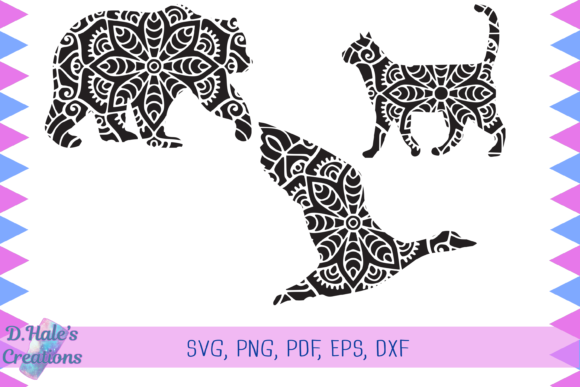 Download Free Cat Duck Bird Mandala Svg Graphic By D Hale S Creations for Cricut Explore, Silhouette and other cutting machines.