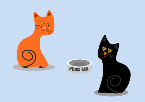 Download Free Cat Vector Illustrations Graphic By Cengiz Otmar Creative Fabrica for Cricut Explore, Silhouette and other cutting machines.
