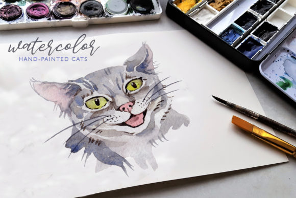 Print on Demand: Cats Watercolor Png Graphic Illustrations By MyStocks - Image 2