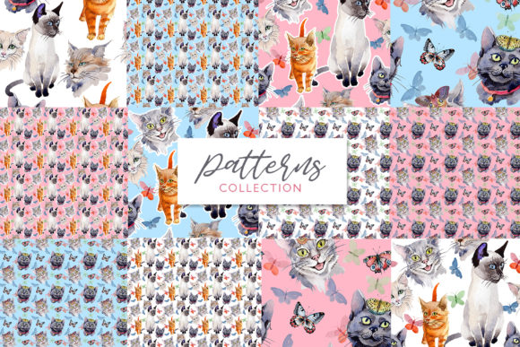 Print on Demand: Cats Watercolor Png Graphic Illustrations By MyStocks - Image 4