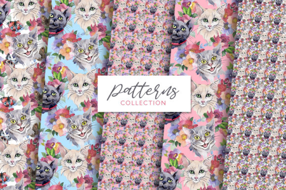 Print on Demand: Cats Watercolor Png Graphic Illustrations By MyStocks - Image 5