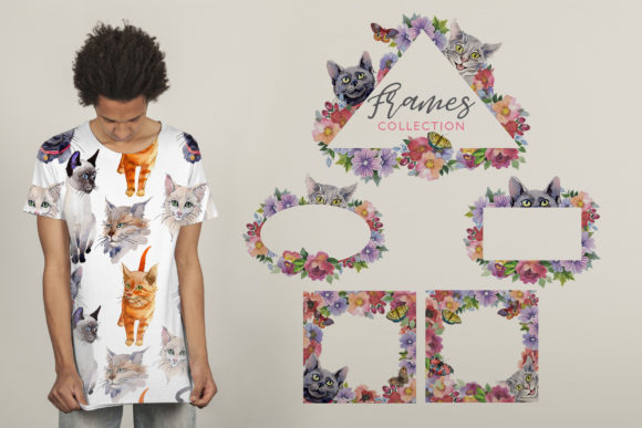 Print on Demand: Cats Watercolor Png Graphic Illustrations By MyStocks - Image 7