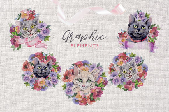 Print on Demand: Cats Watercolor Png Graphic Illustrations By MyStocks - Image 8