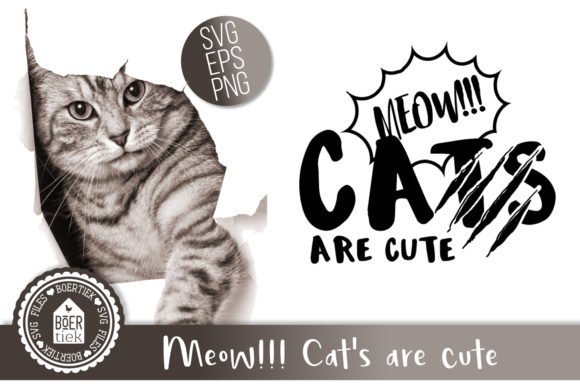 Cats Are Cute Graphic Crafts By Boertiek