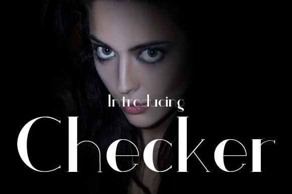 Print on Demand: Checker Serif Font By da_only_aan