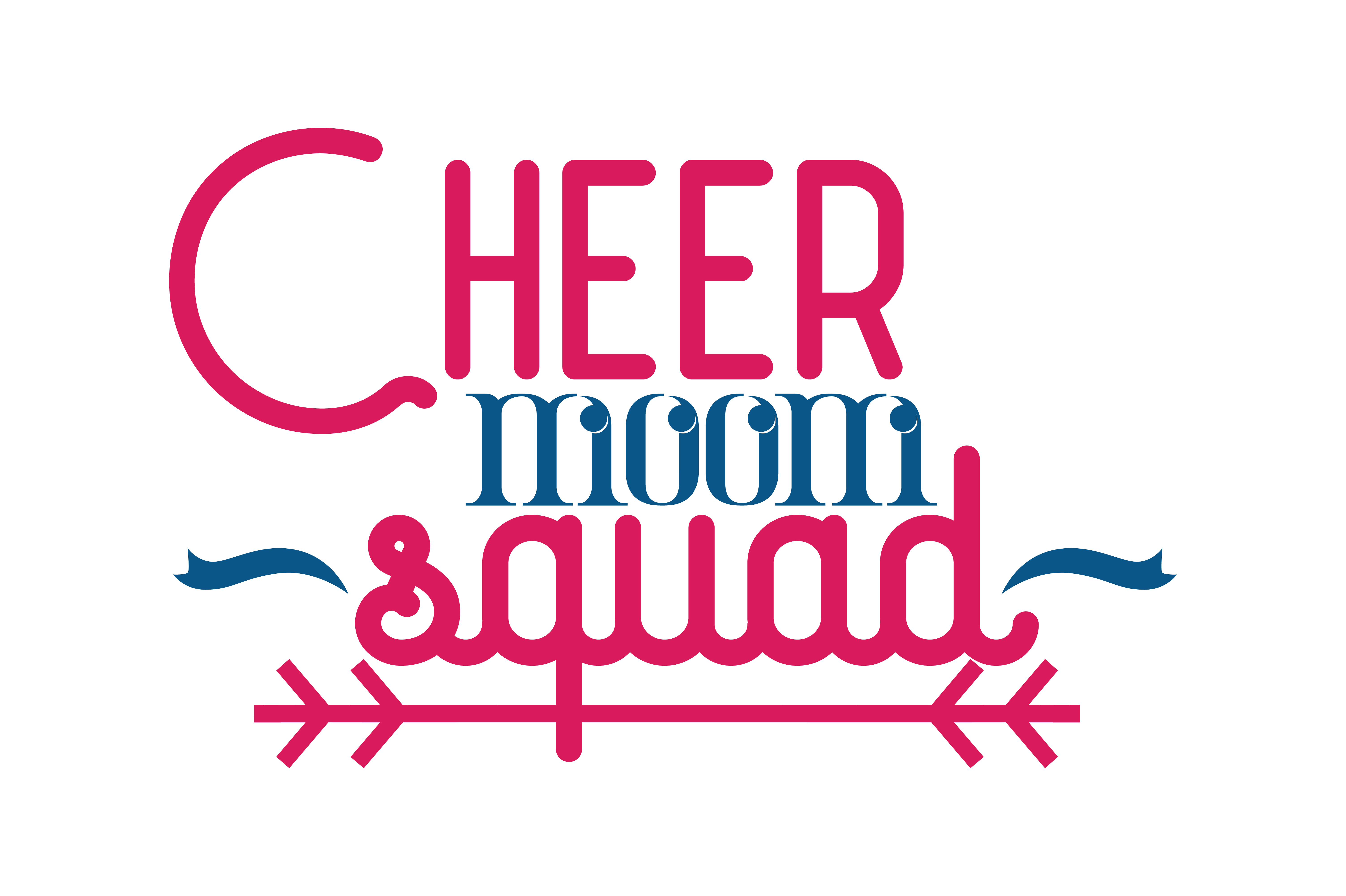 Download Free Cheer Moom Squad Quote Svg Cut Graphic By Thelucky Creative for Cricut Explore, Silhouette and other cutting machines.