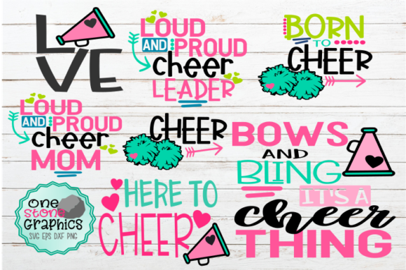 Cheerleading Svgs Graphic Crafts By OneStoneGraphics