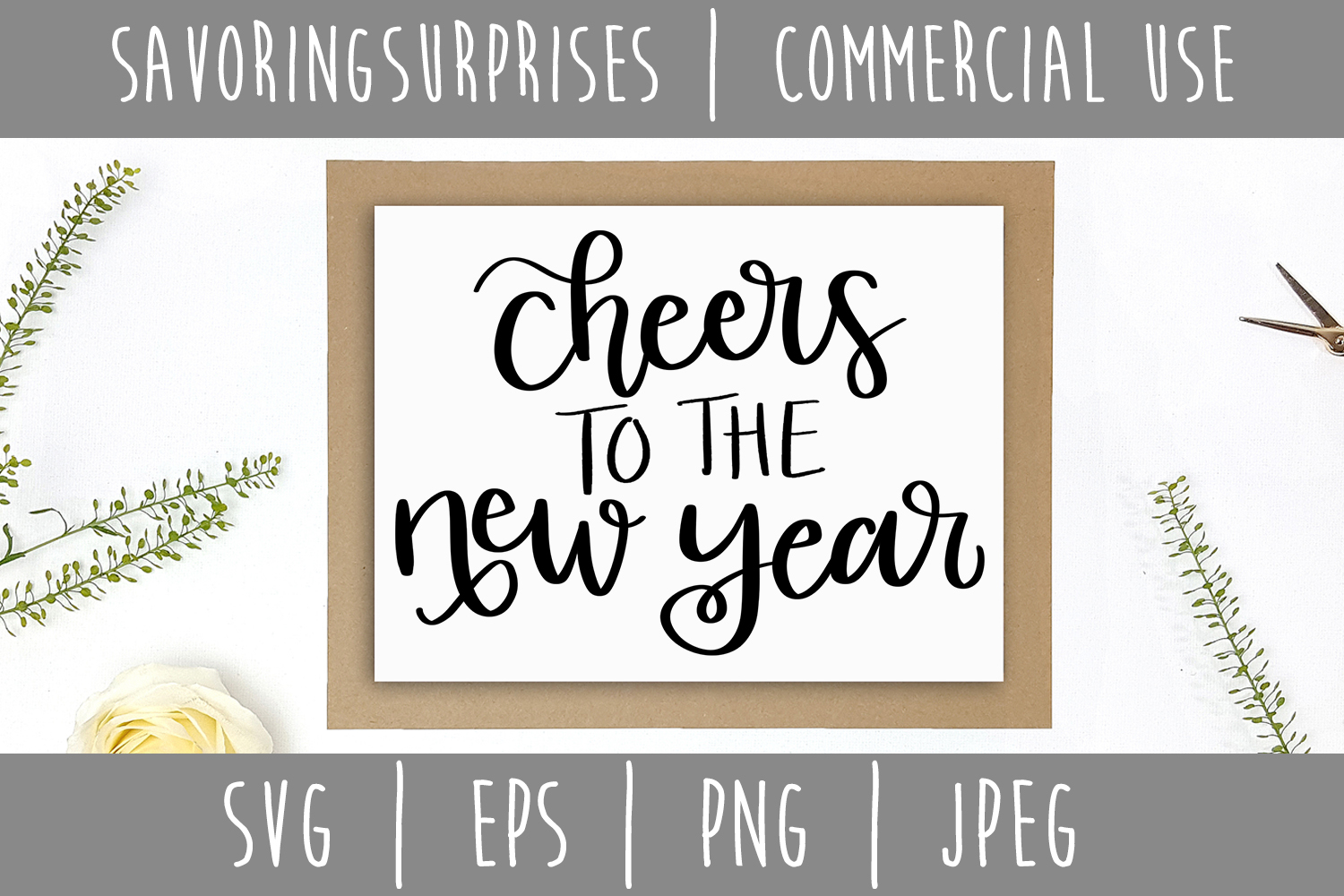 Download Free Cheers To The New Year Svg Graphic By Savoringsurprises for Cricut Explore, Silhouette and other cutting machines.
