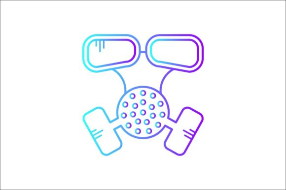 Print on Demand: Chemical Mask Graphic Icons By khld939
