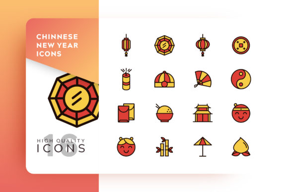 Chinese Icon Pack Graphic Free Download
