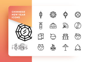 Chinese New Year Icon Pack Graphic By Goodware.Std