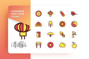 Chinese New Year Icons Pack Graphic By Goodware.Std
