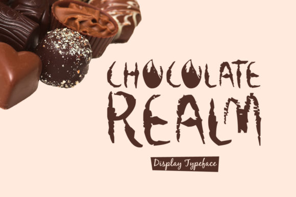 Print on Demand: Chocolate Realm Display Font By Spanking Fonts