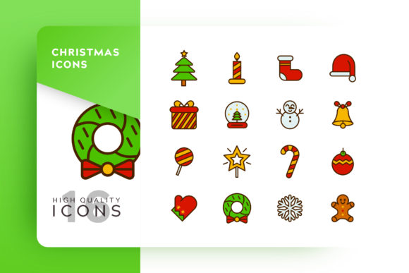 Print on Demand: Christmas Icon Pack Graphic Icons By Goodware.Std