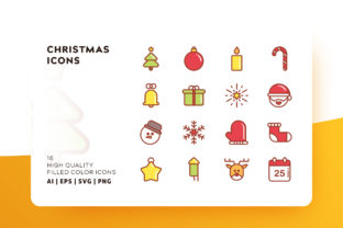 Christmas Icons Filled Graphic By Goodware.Std