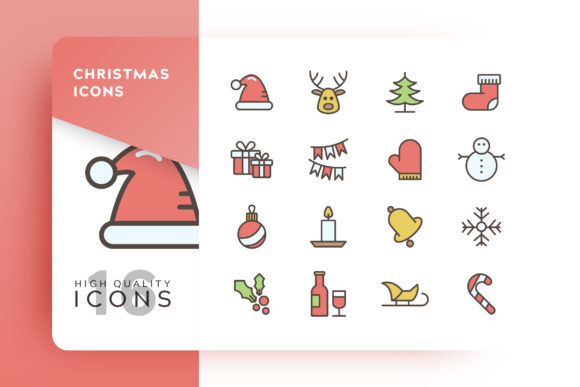 Print on Demand: Christmas Icons Pack Graphic Icons By Goodware.Std