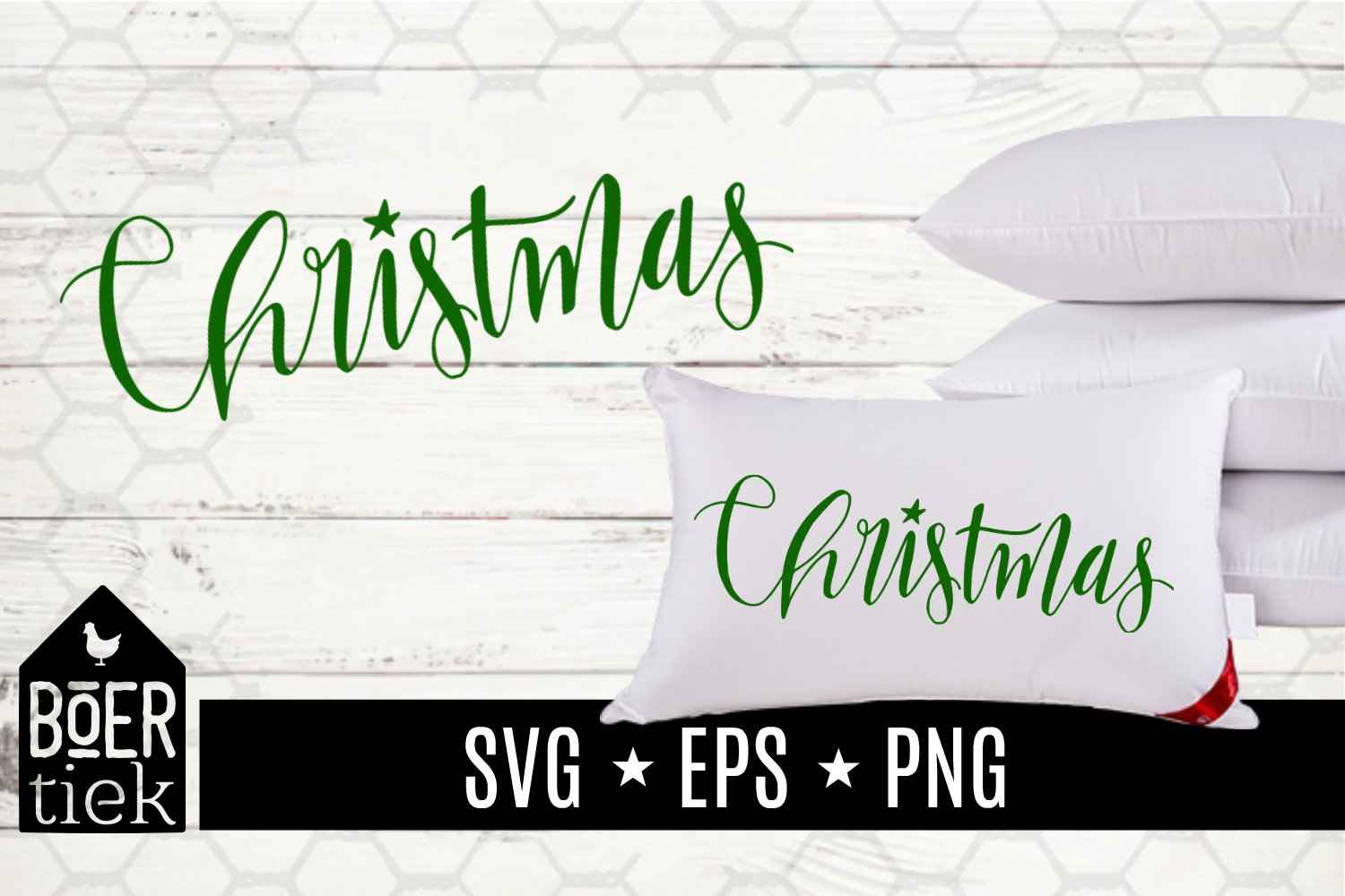 Download Free Christmas Hand Lettered Graphic By Boertiek Creative Fabrica SVG Cut Files