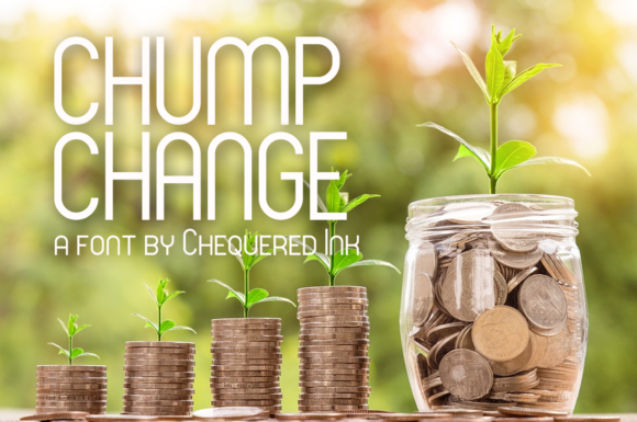 Print on Demand: Chump Change Display Font By Chequered Ink - Image 1
