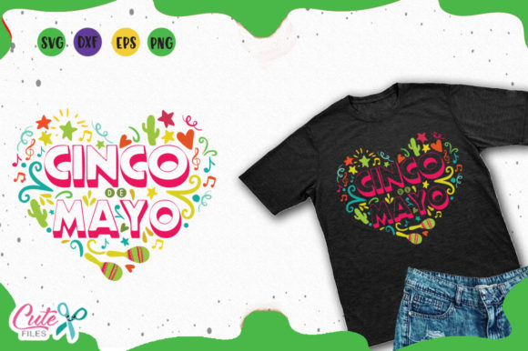 Download Free Cinco De Mayo Heart Svg Graphic By Cute Files Creative Fabrica for Cricut Explore, Silhouette and other cutting machines.