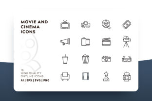 Cinema Icon Pack Graphic By Goodware.Std