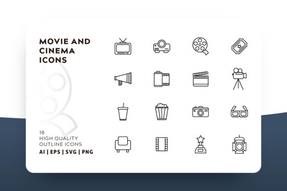 Print on Demand: Cinema Icon Pack Graphic Icons By Goodware.Std - Image 1