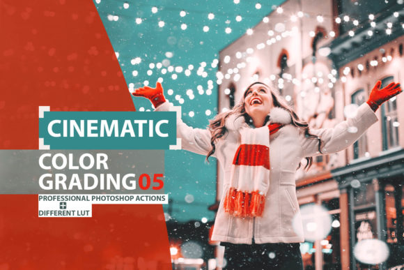 Print on Demand: Cinematic Color Grading 05 Photoshop Actions Graphic Actions & Presets By 3Motional