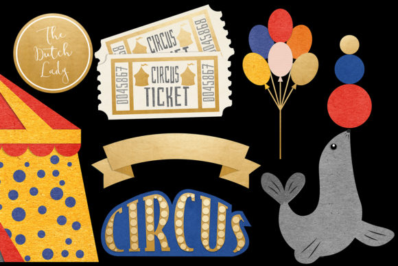 Circus Carnival Show Clipart Set Graphic By Daphnepopuliers Creative Fabrica