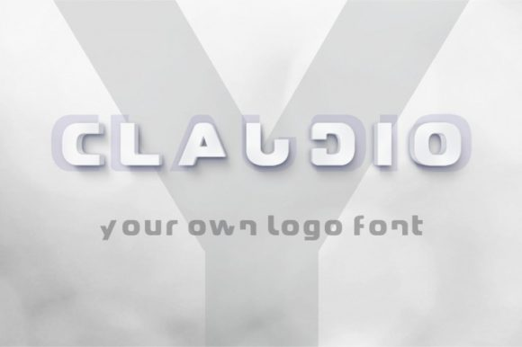 Print on Demand: Claudio Display Font By bywahtung