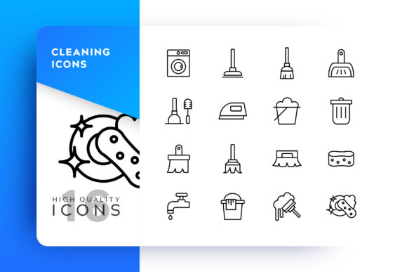 Clean Icon Pack Graphic Icons By Goodware.Std - Image 1