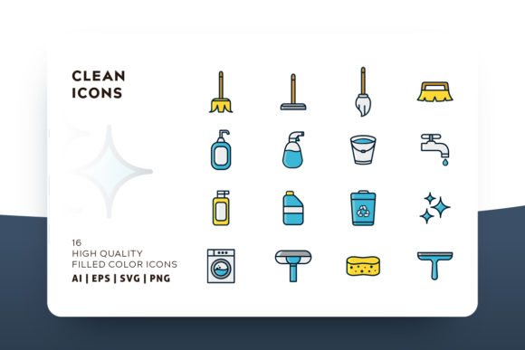 Print on Demand: Cleaning Icon Pack Graphic Icons By Goodware.Std