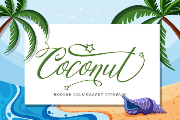 Print on Demand: Coconut Script Script & Handwritten Font By leparte studio