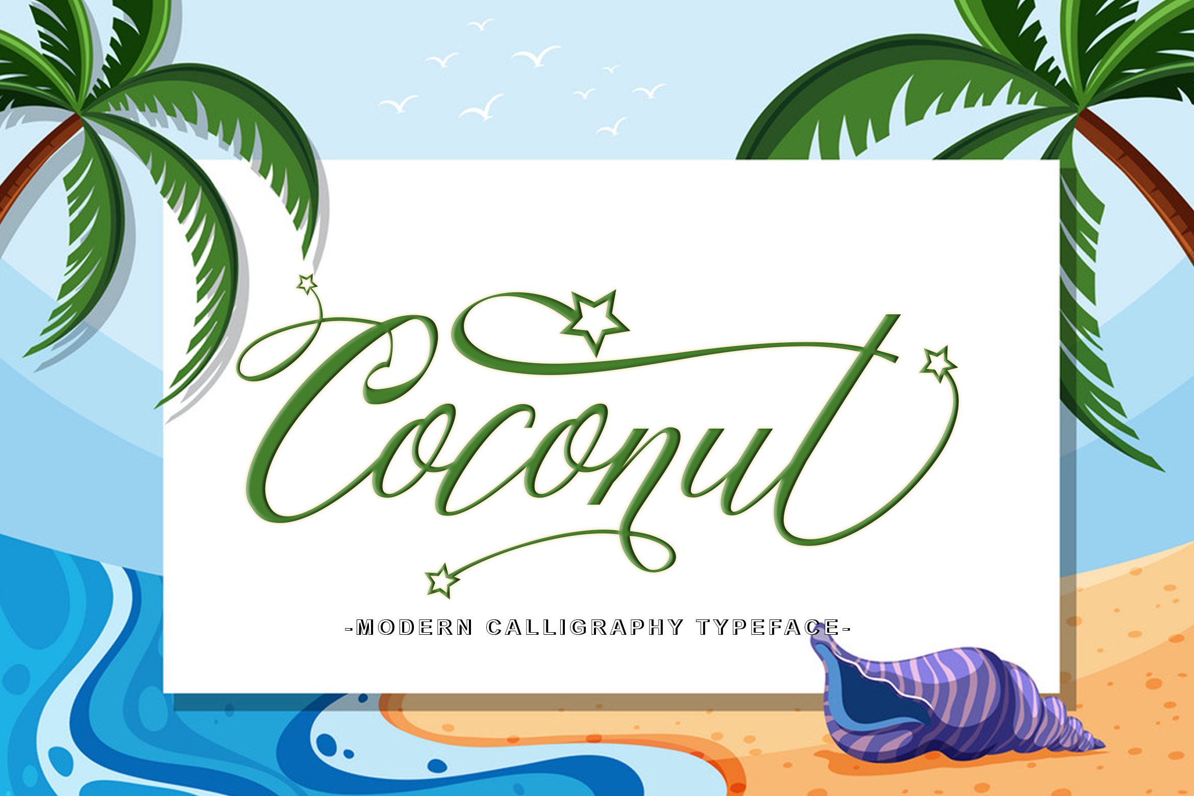Download Free Coconut Script Font By Leparte Studio Creative Fabrica for Cricut Explore, Silhouette and other cutting machines.