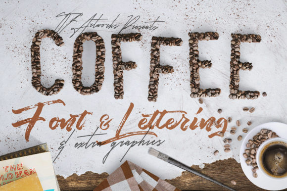Print on Demand: Coffee Beans - Font & Lettering Graphic Scene Generators By tvartworks