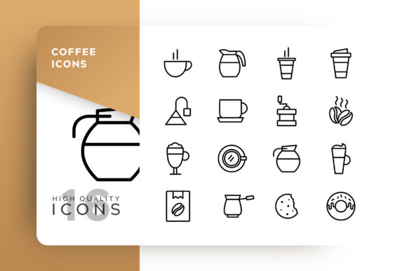 Print on Demand: Coffee Icon Pack Grafik Icons von Goodware.Std