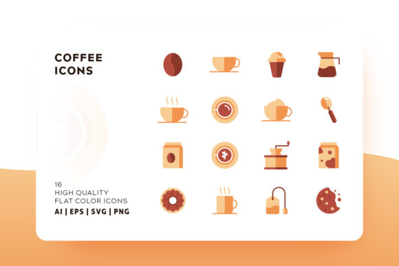 Print on Demand: Coffee Icon Pack Graphic Icons By Goodware.Std