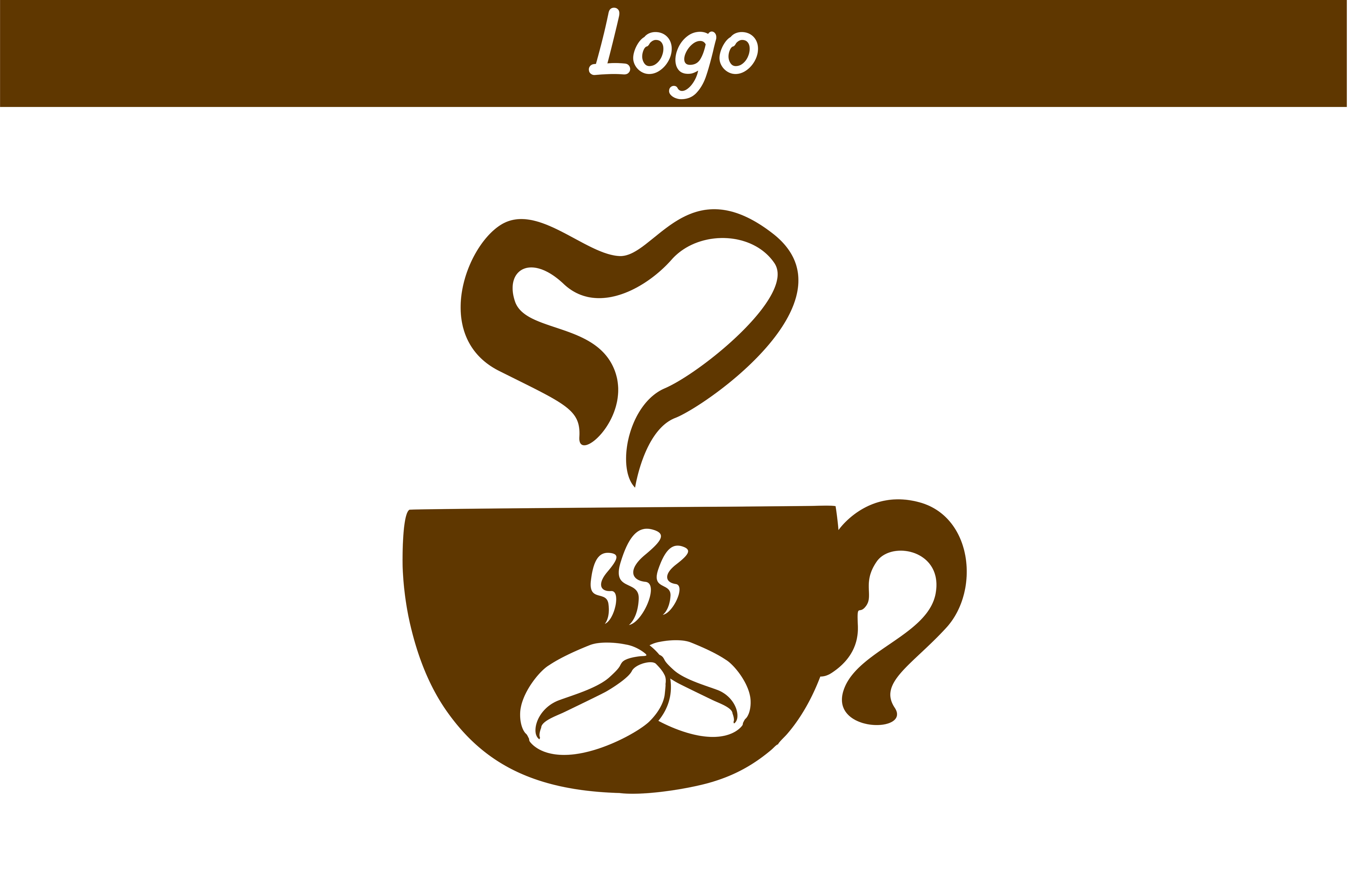 Download Free Coffee Logo Graphic By Arief Sapta Adjie Creative Fabrica for Cricut Explore, Silhouette and other cutting machines.