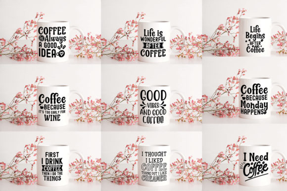 Download Free Coffee Quotes Bundle Graphic By Svgbundle Net Creative Fabrica for Cricut Explore, Silhouette and other cutting machines.