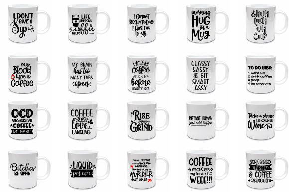Download Free Coffee Bundle Grafico Por Craft Pixel Perfect Creative Fabrica for Cricut Explore, Silhouette and other cutting machines.