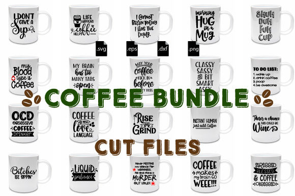 Download Free Coffee Bundle Graphic By Craft Pixel Perfect Creative Fabrica for Cricut Explore, Silhouette and other cutting machines.