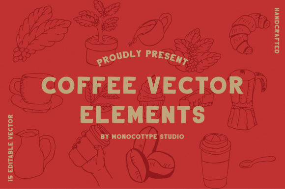 Print on Demand: Coffee Vector Elements Pack Graphic Illustrations By monocotype