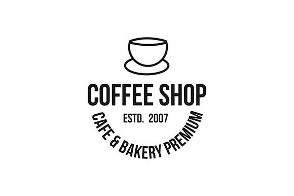 Download Free Coffee Logo Graphic By Rohmar Creative Fabrica for Cricut Explore, Silhouette and other cutting machines.