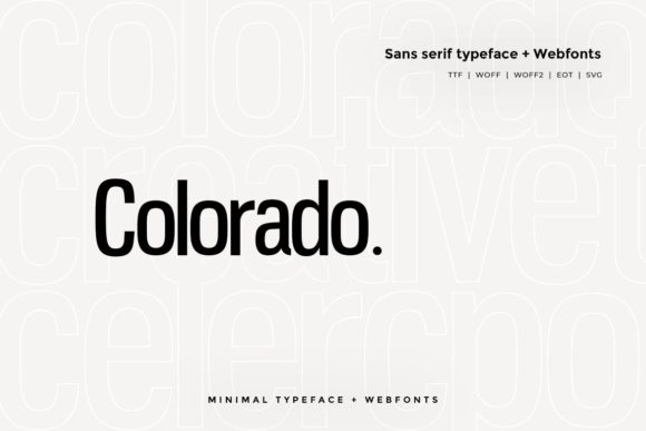 Print on Demand: Colorado Sans Serif Font By Webhance