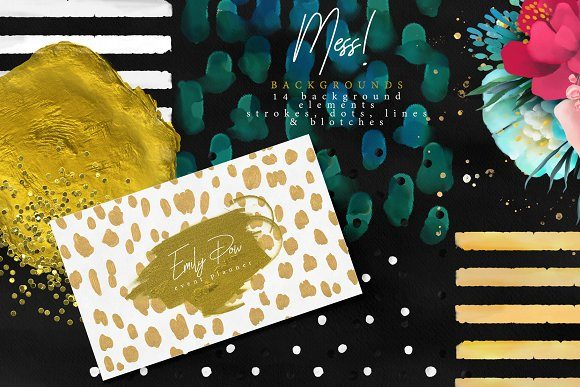 Print on Demand: Colorful Mess & Gold Graphic Illustrations By Anna Babich - Image 11