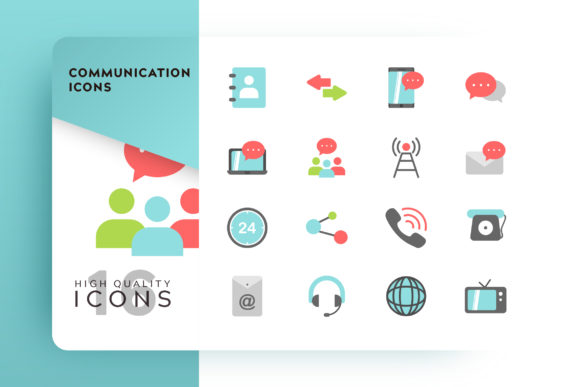 Communicating Icon Pack Graphic Free Download