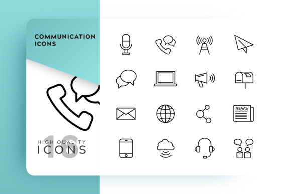 Communication Icon Pack Graphic Icons By Goodware.Std - Image 1