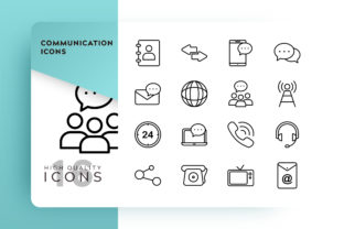 Communication Icons Pack Graphic By Goodware.Std