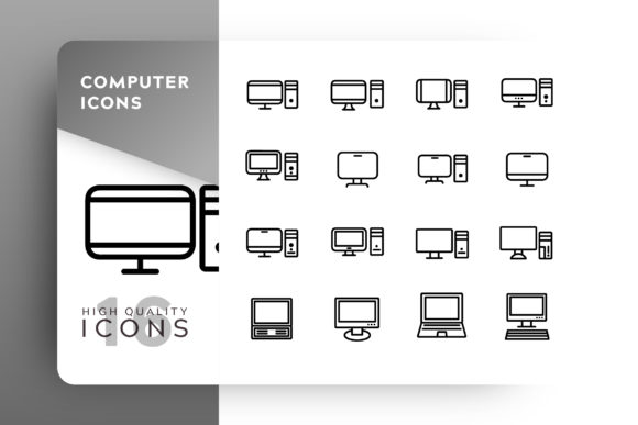 Print on Demand: Computer Icon Pack Graphic Icons By Goodware.Std - Image 1