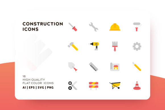 Download Free Construction Icon Pack Graphic By Goodware Std Creative Fabrica for Cricut Explore, Silhouette and other cutting machines.