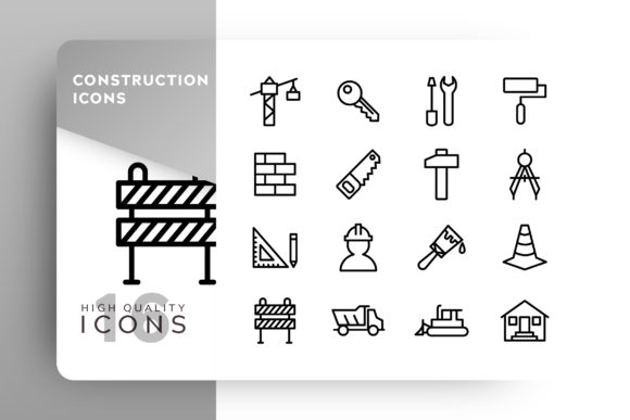 Print on Demand: Construction Icon Pack Graphic Icons By Goodware.Std