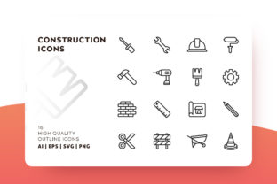 Print on Demand: Construction Icon Pack Gráfico Iconos Por Goodware.Std